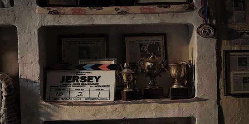 Shahid Kapoor shares a movie clapboard of his film Jersey In Chandigarh